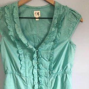 Anthropologie Edme & Esyllte  ruffle tunic blouse